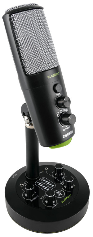 Mackie EleMent Premium USB Condenser Microphone with Integrated 2-Channel Mixer