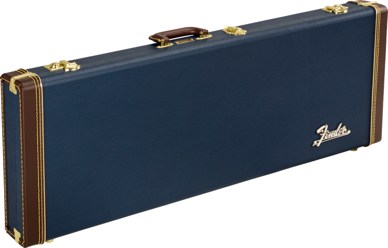 Fender Classic Series Wood Hardshell Case for Stratocaster/Telecaster - Navy Blue