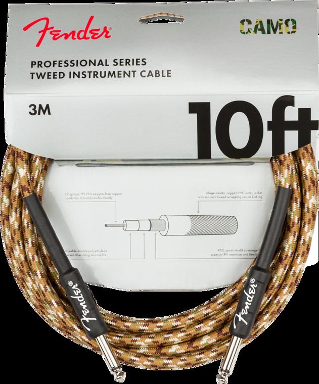 Fender Professional 10' Instrument Cable - Desert Camo
