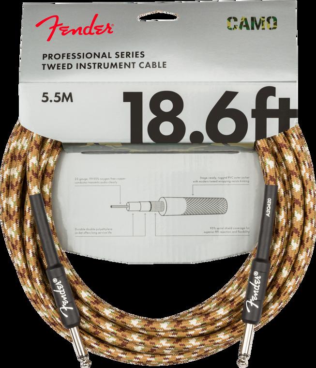 Fender Professional 18.6' Instrument Cable - Desert Camo