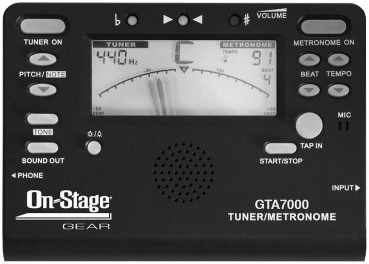 On-Stage Chromatic Tuner/Metronome/Tone Generator
