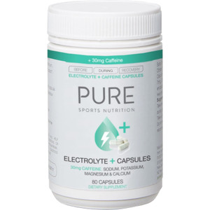 PURE Electrolyte + Capsules - 30mg CAFFEINE (80)