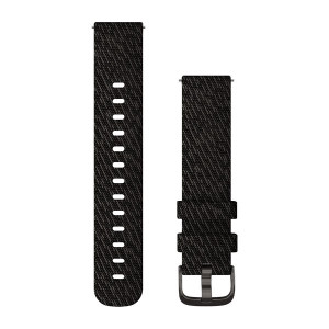 Garmin Quick Release 20mm Band - Black Pepper Woven Nylon with Slate Hardware (010-12924-13)