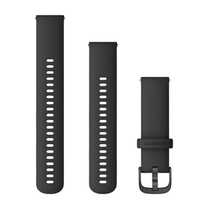 Garmin Quick Release Band 22mm - Black with Slate Hardware (010-12932-21)