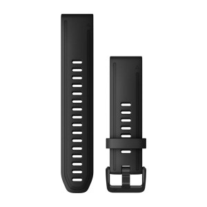 Garmin QuickFit 20 Black Silicone Watch Band (010-12867-00)