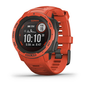 Garmin Instinct Solar – Flame Red (010-02293-21)