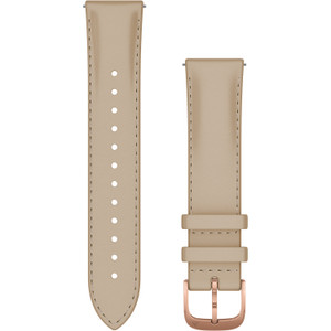 Garmin Quick Release 20mm Light Sand Italian Leather with 18K Rose Gold PVD Hardware (010-12924-21)