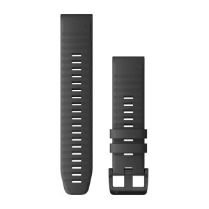 Garmin QuickFit 22 Slate Grey Silicone with Black Hardware (010-12863-22)