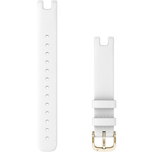 Replacement Garmin Lily Band (14 mm) White Italian Leather with Cream Gold Hardware (010-13068-A3)
