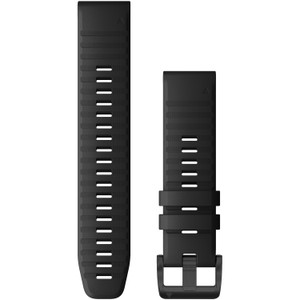 Garmin QuickFit 22 Black Silicone with Black Hardware (010-12863-00)