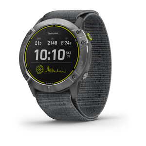 Garmin Enduro - Steel with Grey UltraFit Nylon Strap (010-02408-00)
