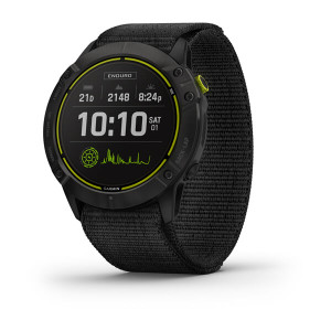 Garmin Enduro - Carbon Grey DLC Titanium with Black UltraFit Nylon Strap (010-02408-01)