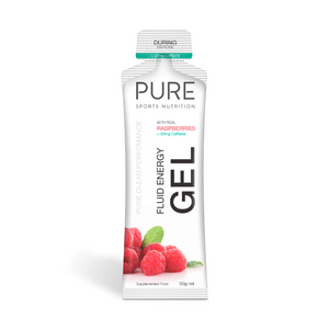 PURE Energy Gel Raspberry + Caffeine 50g