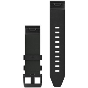 Black Garmin QuickFit 22 Leather Watch Band (010-12740-01)