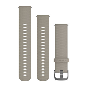 Quick Release 20mm Band - SandStone Silicone Band with Slate Hardware (010-12691-09)