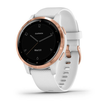 Vivoactive 4S Smart Watch (White with Rose-gold Hardware)
