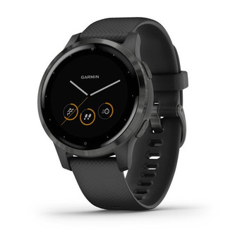 Garmin Vivoactive 4S Smart Watch (Black with Slate Hardware) (010-02172-12)