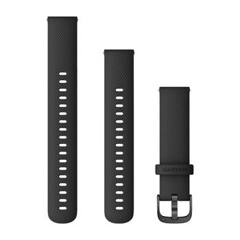 Garmin Quick Release Bands (18 mm) Black with Slate Hardware (010-12932-01)