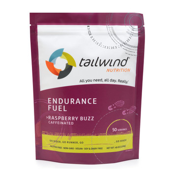 Tailwind Caffeinated Endurance Fuel - Raspberry Buzz - 50 Servings