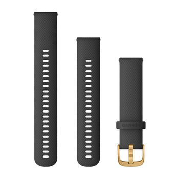 Garmin Quick Release 20mm Band - Black with Gold Hardware (010-12932-13)