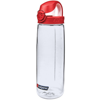 Nalgene On The Fly 650 ml Drink Bottle - Clear/Red (NG55651024)