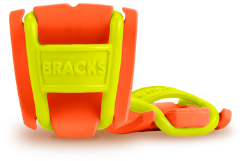 BRACKS lace lock - Orange/Lime