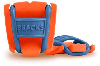 BRACKS lace lock - Orange/Blue