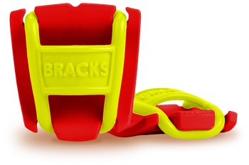BRACKS lace lock - Red/Lime