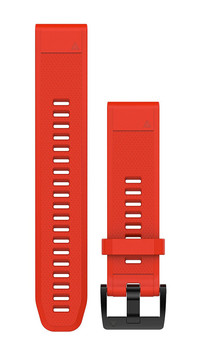 Garmin QuickFit 22 Watch Band - Flame Red Silicone (010-12496-03)