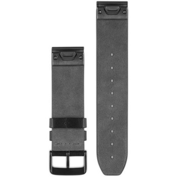 Garmin QuickFit 22 Watch Band - Black Leather (010-12500-02)