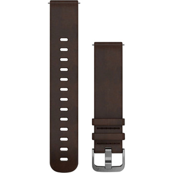 Garmin 20mm Quick Release Band - Dark Brown Leather Band (010-12691-01)