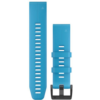 Garmin QuickFit 22 Watch Band - Cyan Blue Silicone (010-12740-03)