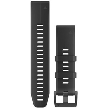 Garmin QuickFit 22 Watch Band - Black/Black Silicone (010-12740-00)