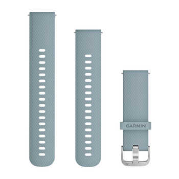 Quick Release 20mm Band - Sea Foam Silicone Band with Silver Hardware (010-12691-06)