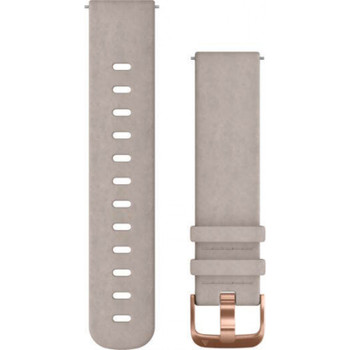 Garmin Quick Release 20mm Band - Grey Suede Band with Rose Gold Hardware