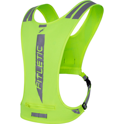 Fitletic Neon GLO Reflective Safety Vest