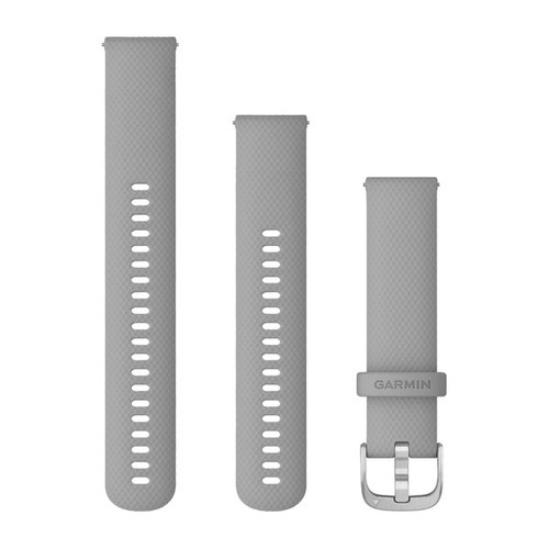Garmin Quick Release 20mm Band - Powder Gray with Silver Hardware (010-12924-00)