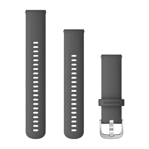 Garmin Quick Release Band 22 mm Shadow Gray with Silver Hardware (010-12932-20)