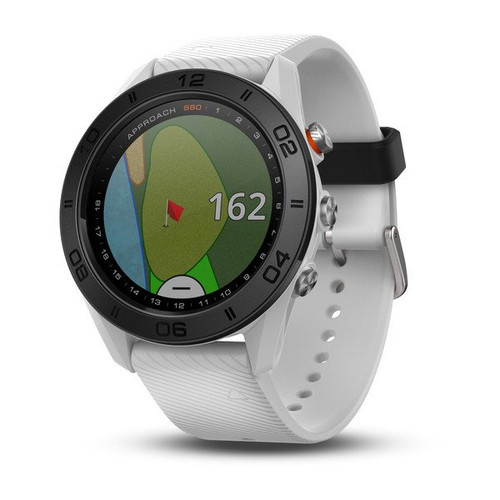 Garmin Approach S60 Golf Watch White with White Band (010-01702-01)