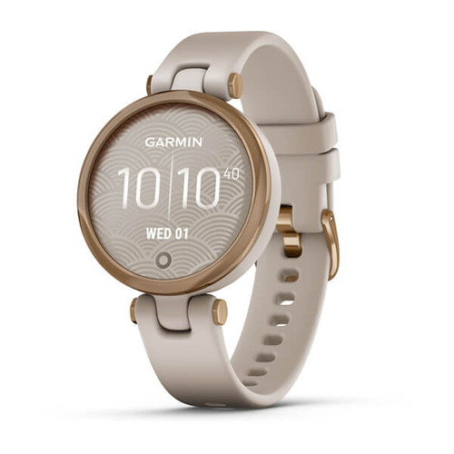 Garmin Lily - Sport Edition, Rose Gold Bezel with Light Sand Case and Silicone Band (010-02384-01)