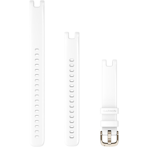 Replacement Garmin Lily Band (14 mm) White with Cream Gold Hardware (010-13068-00)
