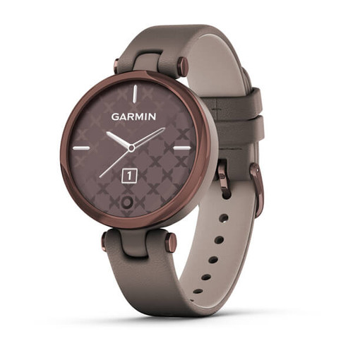 Garmin Lily - Classic Edition, Dark Bronze Bezel with Paloma Case and Italian Leather Band (010-02384-A0)