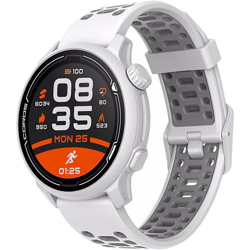 Coros PACE 2 Premium GPS Sport Watch - White - Silicone Band (WPACE2-WHT)