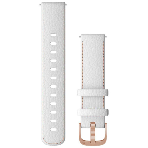 Garmin Quick Release Bands (18 mm), White Leather with Rose Gold Hardware (010-12932-0L)