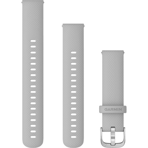 Garmin Quick Release Bands (18 mm), Mist Grey with Silver Hardware