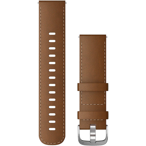 Quick Release Band 22mm - Brown Italian Leather with Silver Hardware (010-12932-24)