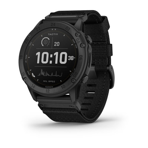 tactix Delta - Solar-powered tactical GPS watch with nylon band