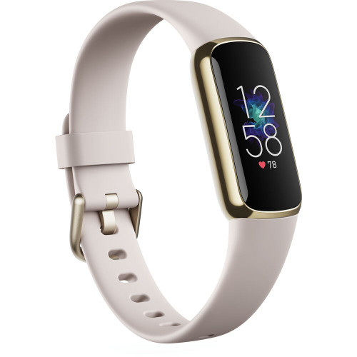 Fitbit Luxe Fitness Tracker - Lunar White/Soft Gold Stainless Steel (FB422GLWT-FRCJK)
