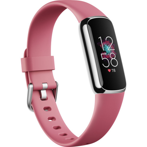 Fitbit Luxe Fitness Tracker - Orchid/Platinum Stainless Steel (FB422SRMG-FRCJK)