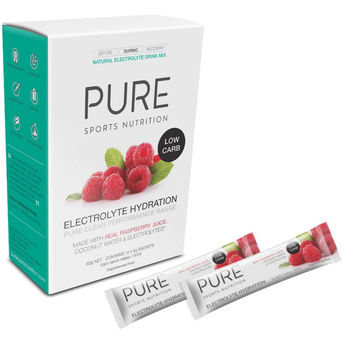 PURE Electrolyte Low Carb Raspberry (10 x 6g)